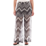 Bisou Bisou® Print Beach Pants - Plus