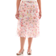 Alfred Dunner® Sweet Melody Floral Print Skirt - Plus