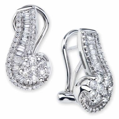jcpenney.com | diamond blossom 1 CT. T.W. Diamond 10K White Gold Swirl Earrings