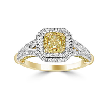 jcpenney.com | Womens 1 CT. T.W. Yellow Diamond 14K Gold Halo Ring