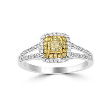 jcpenney.com | Womens 3/4 CT. T.W. Yellow Diamond 14K Gold Halo Ring
