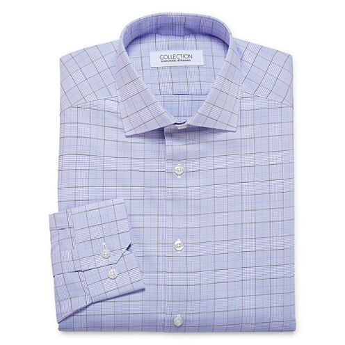 Collection by Michael Strahan Cotton Stretch Long Sleeve Dress Shirt Big and Tall