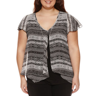 jcpenney.com | By&By Flutter Sleeve Top
