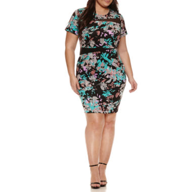 jcpenney.com | Boutique + Short Sleeve Bodycon Dress-Plus