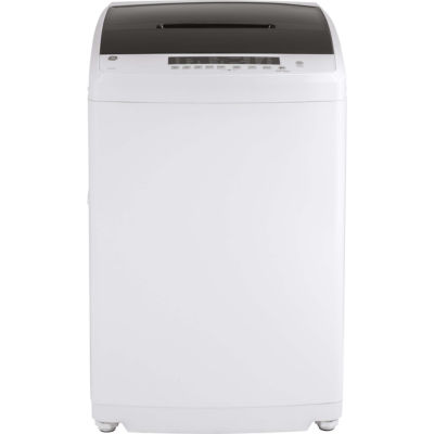GE Space Saving 2.8 DOE Cu. Ft. Capacity Portable Washer With Stainless  Steel