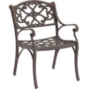 Biscayne Pair of Outdoor Dining Chairs - Bronze Finish