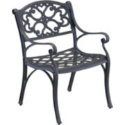 Biscayne Pair of Outdoor Dining Chairs - Black Finish