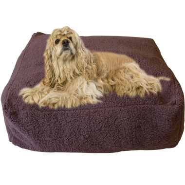 jcpenney.com | Carolina Pet Co. Chocolate Cloud Sherpa Pouf Pet Bed