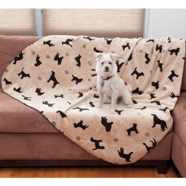 jcpenney.com | Carolina Pet Co. Plush Embossed Dog Throw