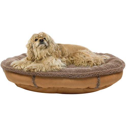 Berber Round Comfy Cup® Pet Bed