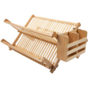 Core Bamboo™ Dish Rack + Utensil Holder