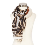 Ombré Animal Print Scarf