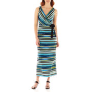 Danny & Nicole® Sleeveless Striped Maxi Dress