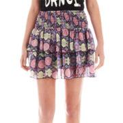 Olsenboye® Smocked-Waist Tiered Print Skirt