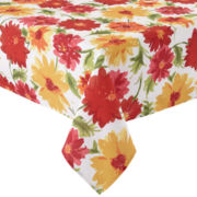 Summer Dahlia Indoor/Outdoor Tablecloth