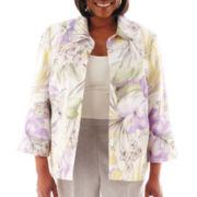 Alfred Dunner® Provence Tropical Print Jacket - Plus