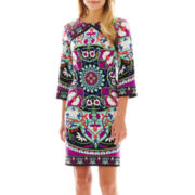 nicole by Nicole Miller® Long-Sleeve Yin-Yang Dress