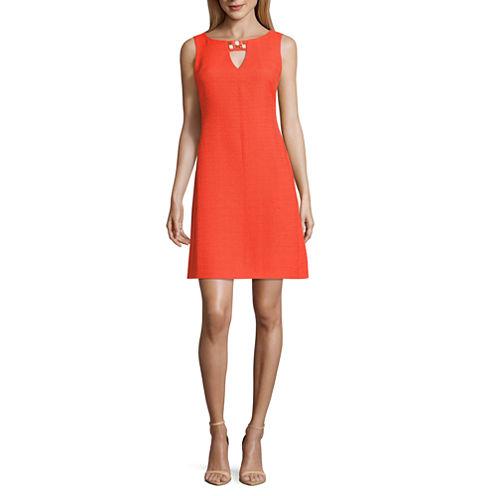 Ronni Nicole Sleeveless Embellished Sheath Dress-Petites
