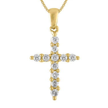jcpenney.com | Womens 1/4 CT. T.W. White Diamond 14K Gold Pendant Necklace
