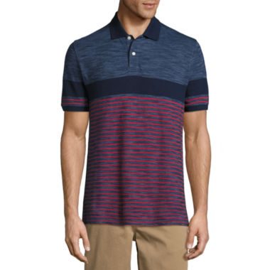 jcpenney.com | St. John's Bay Short Sleeve Stripe Knit Polo Shirt