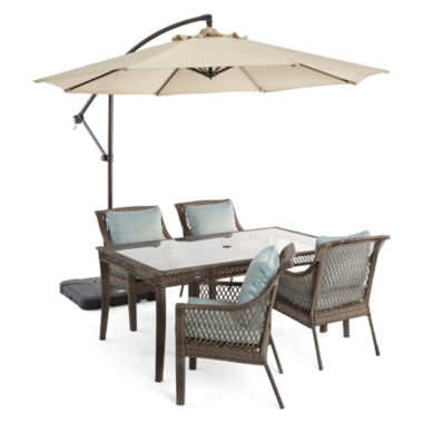 jcpenney.com | Outdoor Oasis™  Latigo 5pc Rectangular Dining Set