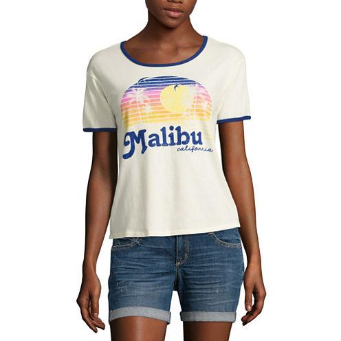 """""""Malibu"""" Graphic T-Shirt- Juniors"""