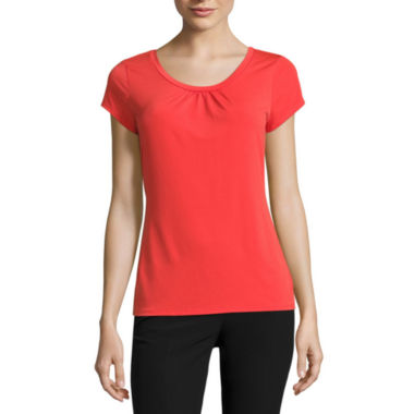 jcpenney.com | Worthington® Short-Sleeve Scoopneck Top