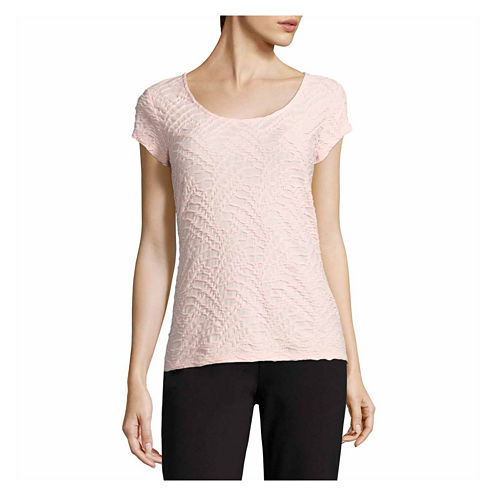 Liz Claiborne Short Sleeve Crew Neck T-Shirt-Womens Talls