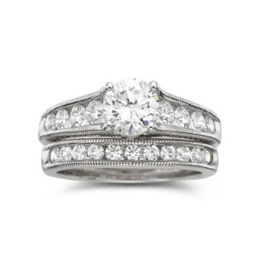 jcpenney.com | DiamonArt® Cubic Zirconia Bridal Set Sterling Silver