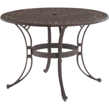 "jcpenney.com | Biscayne 48"" Outdoor Dining Table - Bronze Finish"