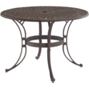 "Biscayne 48"" Outdoor Dining Table - Bronze Finish"