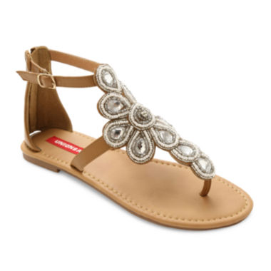jcpenney.com | UNIONBAY® Daisy Embellished Flat Sandals