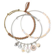 Messages from the Heart® by Sandra Magsamen® 3-pc. Bead Bracelet Set