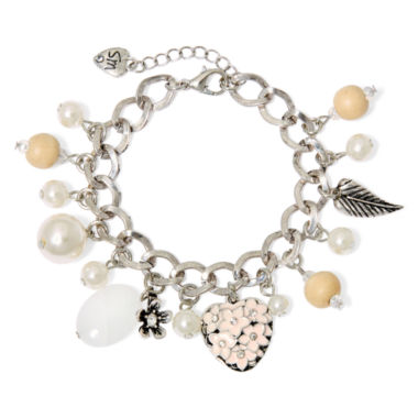 jcpenney.com | Messages from the Heart® by Sandra Magsamen® Silver-Tone Flower Bracelet
