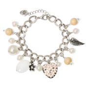 Messages from the Heart® by Sandra Magsamen® Silver-Tone Flower Bracelet