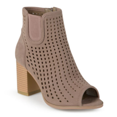 jcpenney.com | Journee Collection Emm Peep Toe Ankle Booties