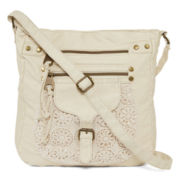 Arizona Single-Pocket Crochet Trim Crossbody Bag