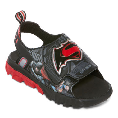jcpenney.com | DC Comics® Batman vs. Superman Light-Up Sandals - Toddler Boys