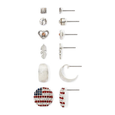 jcpenney.com | Arizona 6-pr. Silver-Tone Earring Set