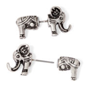 Decree® Silver-Tone Peekaboo Elephant Earrings