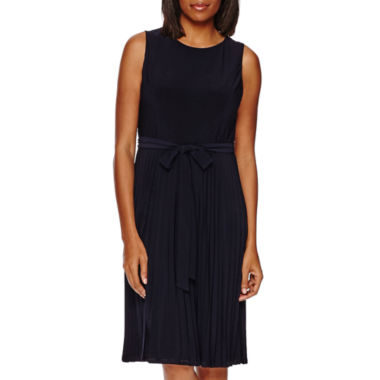 jcpenney.com | Black Label by Evan-Picone Sleeveless Pleated Shift Dress