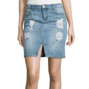 Decree® Fitted Denim Skirt