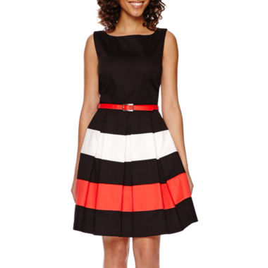 jcpenney.com | Tiana B. Sleeveless Colorblock Fit-and-Flare Dress
