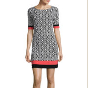 R&K Originals® Short-Sleeve Print Shift Dress