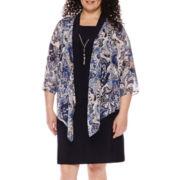 Tiana B. 3/4-Sleeve Jacket Dress - Plus