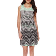 Perceptions Sleeveless Print Sheath Dress - Petite