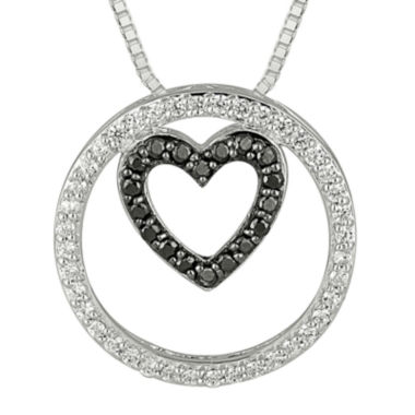 jcpenney.com | 1/3 CT. T.W. White & Color-Enhanced Black Diamond Sterling Silver Pendant Necklace
