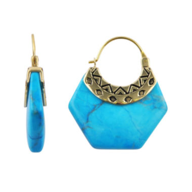 jcpenney.com | Art Smith by BARSE Genuine Blue Howlite Earrings