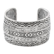 Art Smith by BARSE Silver Over Brass Cuff Bracelet