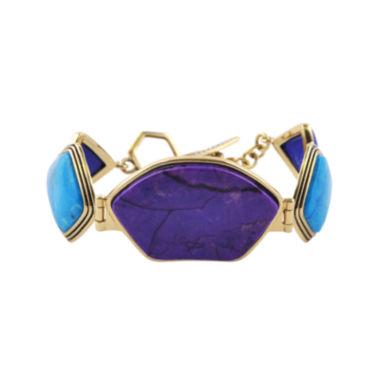 jcpenney.com | Art Smith by BARSE Purple and Aqua Howlite Brass Bracelet